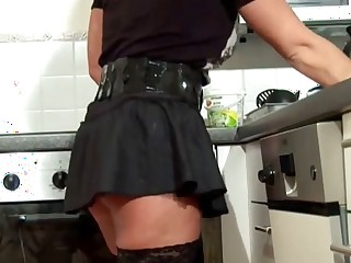 crumby Boy Jolly along Milf to Fuck and Cum superior to before Stockings