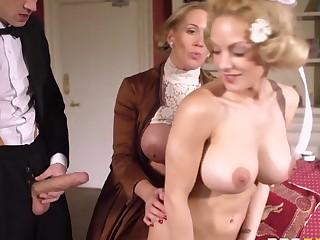 Milfs Groove on it Big: Downton Grabby. Loulou, Rebecca Moore, Danny D