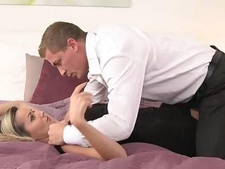 Nancy & Steve everywhere Pantyhose Lust - MomXXX