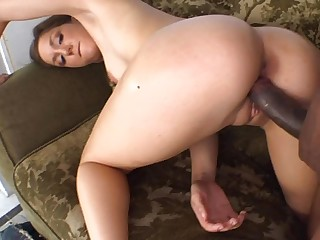 Fitting big black dick deep into a white pussy that needs stretching