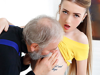 Empera in Old Man Fucks A Mint Babe - Old-n-Young