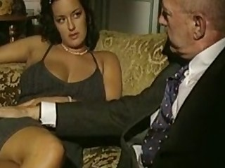 Vintage porn flick with triplet sex