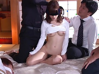 Incredible Japanese girl Minami Kojima in Best gangbang, cuckold JAV film over