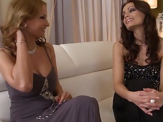 Incredible pornstars Abbie Cat and Sophie Lynx in horny creampie, facial adult movie