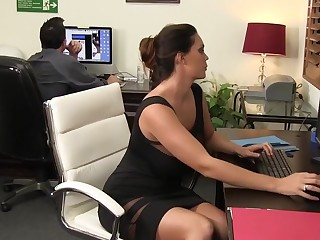 Ultra-Hot Alison Tyler Squeezes Cum Vulnerable Her Giant Tits