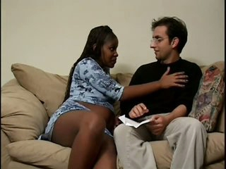 Horny Ebony Pregnant Infant Bonks Hard