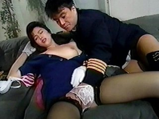 This exotic flight stewardess have always been a sucker to pilots. Observe as she acquires persuaded by this pilot's slick talks and eventually giving in to his horny intentions. Observe her in her utmost joy as she acquires her tastey labia nailed by thi