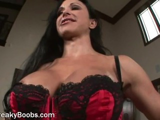 Strange Housewife On touching Big Chest