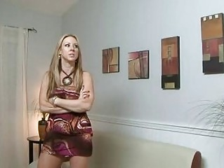 Pale golden-haired milf with natural tits gets shagged doggy style