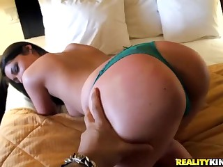 Round Assed Brunette Gives It And Gets Cash