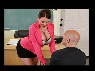 Johnny's new substitute teacher is one hot large-titted cutie... That Sweetheart has Johnny daydreaming about a hot fuck session in the class!!! Turns out poor Johnny wasn't dreaming entirely after all...