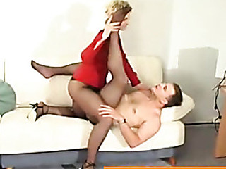 Amelia&Peter amazing pantyhose movie scene