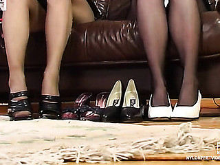 Nellie&Fidelia hot nylon feet movie
