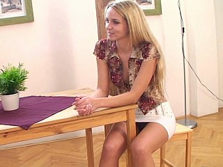 Well shaped cute European teen by her team up