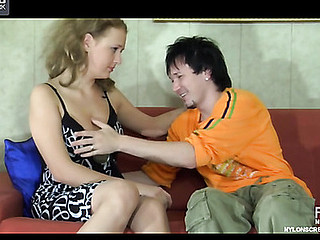 Alina&Rolf nylon sex act