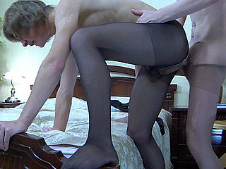Paul&Silvester gay pantyhose mating movie scene