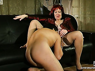 Lusty mother i'd like to be wild about in silky nylons giving footjob expecting be worthwhile for hard cunt-ramming
