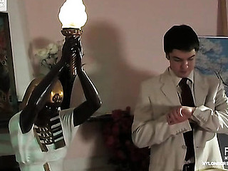 Lascivious chick in luxury stockings getting her constricted wet crack impaled unfathomable