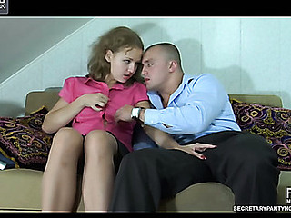 Alina&Nicholas office hose sex act