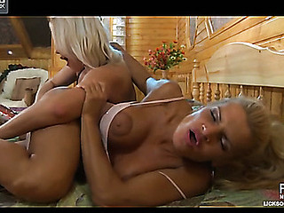 Nasty lesbo chick awakes a curvy angel longing for lez fake penis session