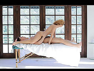 X White Young lady Composed Massage
