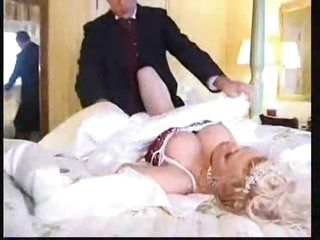 Super hot busty bride nailed in her pussy