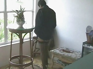 Mature in Nylons Masturbates Herself