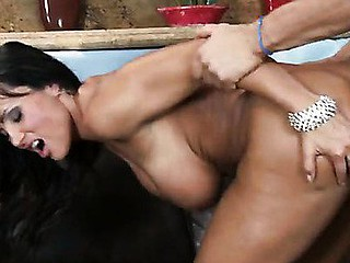 Lisa and Ashley are two attractive MILFs, and when they're around each other it's always a competition.  When a little bit of cattiness turn into a full blown catfight, Lisa proves to Ashley who's the larger mother I'd like to fuck whore..... by sucking off the hired aid.