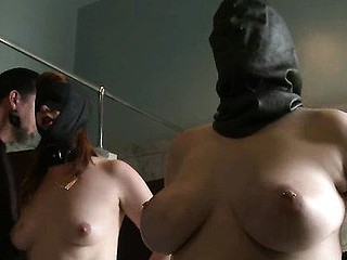Breasty hot hot beauty submits to chastisement and anal bondage sex.