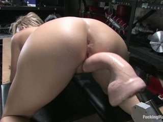 Busty Golden-haired Fucking Machine S...