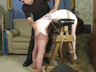Sexy bitch gets greedy-guts tied and tit-tortured
