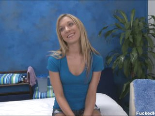 Pretty blond Amy ready to strip