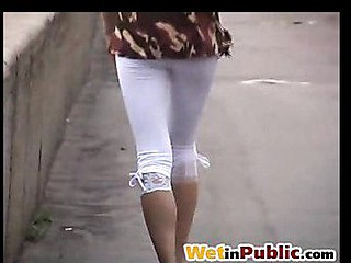 Public moist leggings