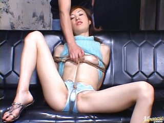 Tied Helter-skelter And Covered Fro Cum