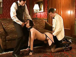 Hot sexy babe's sexy domestics drilled and punished concerning bondage.