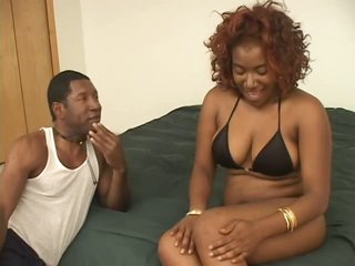 Naturally Busty Ebony Babe Renea Jacobs Acquires a Pruning and a Hot Fuck