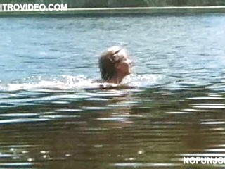 Smokin' Hot Cheryl Ladd Slim Dipping In a 'Now and Forever' Scene