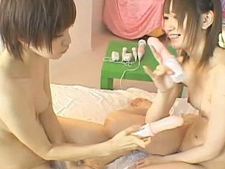 Miyuki Yokoyama and Michiru Hoshizora are dressed as maids in the opening scene. They gave their master blowjobs and they let him fuck 'em in several positions and this chab came on their faces. Scenes with lesbian sex  blowjobs and an fuckfest follow.