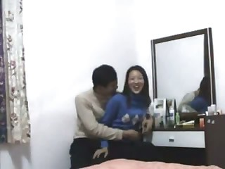 Young Oriental dilettante gets her wet crack rammed by her man's stiff boner from the top and the back. Once she's done, the dick goes in her mouth and that babe works her tongue to make him cum.