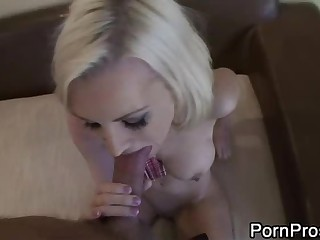 Sex tape of white haired busty slut Brandi Edwards