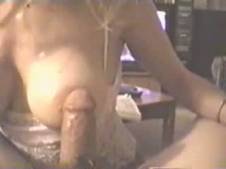 Busty pretty lady acquires screwed between her huge milkers. She can't live without to feel strong cock sliding along her big boobs.