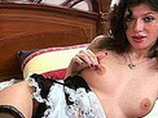 Pretty French Maid Teases Us!!!