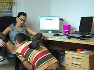 Homemade clip be incumbent on office slut making out