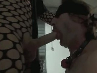 A great dominating scene from Bianca, that humiliates her bound and gag slave by whipping and abusing him in all holes.