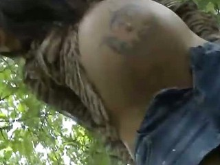 Horny preggo Brianna masturbate at the outdoor