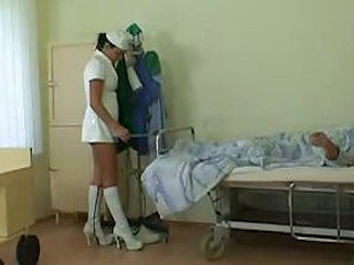 Grandpa fucks hot lustful nurse
