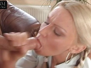 Blonde school girl shows off her naughty and gaping chocolate hole