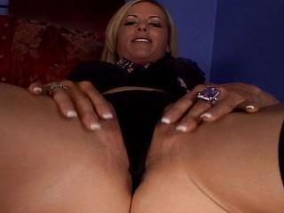 Nasty blonde MILF eats his man meat and gets nailed in her gaping arsehole