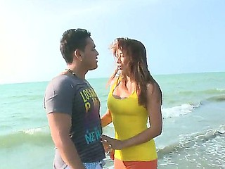 Hot Sandra enjoys having her cunt pounded while enjoying time at the beach