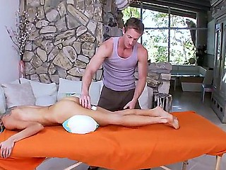 Adorable Sarah Jessie enjoys astounding massage over her massive tits and tight ass